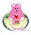 3D Bear & Barbie Doll Cake Design